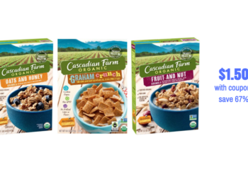 New Cascadian Farm Cereal Coupon Pay Just $1.50 for Organic Cereal