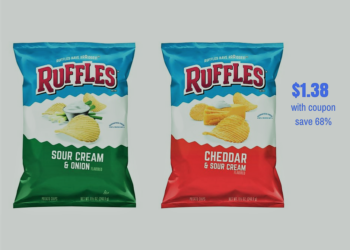 Ruffles Potato Chips Just $1.38 Each With Coupons, Save 68%