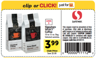 signature SELECT Coffee Coupon
