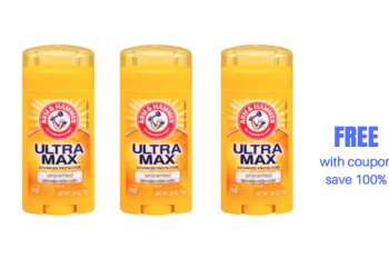 Free Arm & Hammer Ultra Max Deodorant at Safeway With Coupon