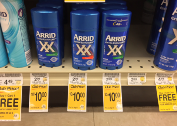 Arrid Coupon – $0.25 Stick or $1.93 Spray Deodorant
