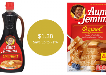 Aunt Jemima Sale – Pancake & Waffle Mix or Syrup for $1.38