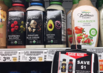 Bolthouse Farms Organic Dressing – Pay as Low as $1.49