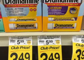 Dramamine Coupon, Pay $2.49 – Save 58%
