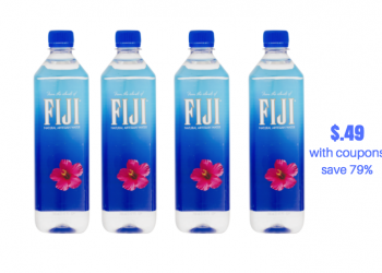 Fiji Water 700 ml Just $.49 With Coupons, Save 75%