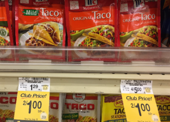 McCormick Taco Seasoning for $0.50