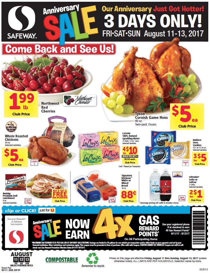 Safeway 3 Day sale