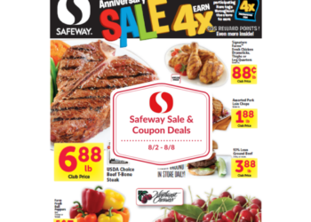 Safeway Sale and Coupon Deals 8/2 – 8/8