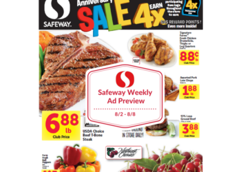 Safeway Weekly Ad Preview 8/2 – 8/8