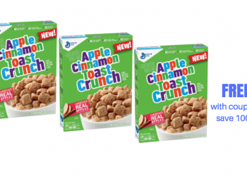 Get 3 Boxes of Apple Cinnamon Toast Crunch Cereal FREE at Safeway!