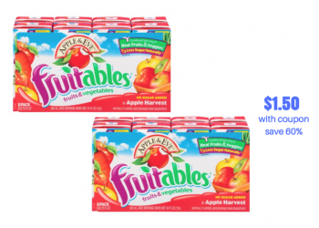 Apple & Eve Fruitables Juice Boxes Sale, Coupon & Catalina | Just $1.50 Per Pack
