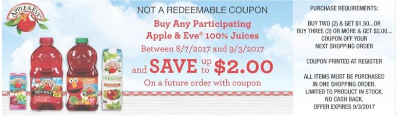apple & eve Juice Catalina