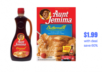 HOT Aunt Jemima Pancake Mix & Syrup Deal | Pay $1.99, Save 60%