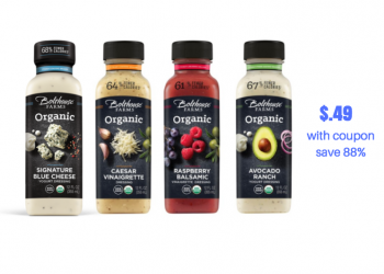 Get 5 Bottles of Bolthouse Farms Organic Dressing just $.49 Each at Safeway