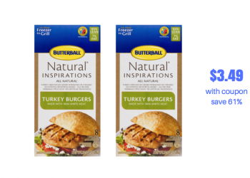 Butterball Frozen Turkey Burgers Sale and Coupon Stack, Pay just $3.49 (Reg. $8.99)