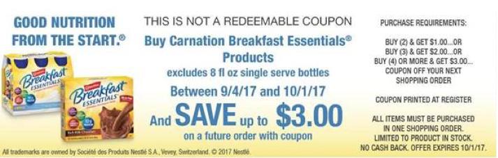 carnation instant breakfast catalina