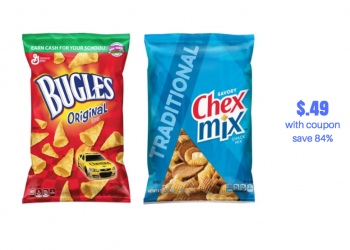 HOT Chex Mix and Bugles Snacks Sale | Pay Just $.49 After Chex Mix Coupon