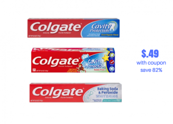 Colgate Adult and Kids Toothpaste Just $.49 With New Colgate Coupon at Safeway