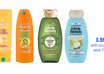 Garnier Fructis and Garnier Whole Blends Just $.99 Each With Coupons