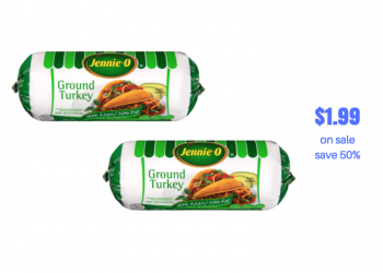 Jennie O 90% Lean Ground Turkey Rolls Buy One Get One Free, Pay Just $1.99 each!