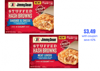 New $1.50 off Jimmy Dean Stuffed Hash Browns Coupon and Sale | Save 42%