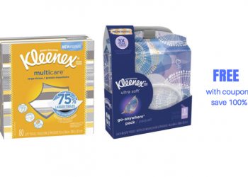 FREE Kleenex Multicare Tissues and Go-Anywhere Tissues at Safeway With New Coupons