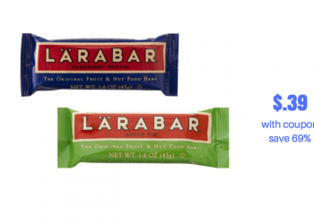 Larabars Just $.39 After Sale and Coupon