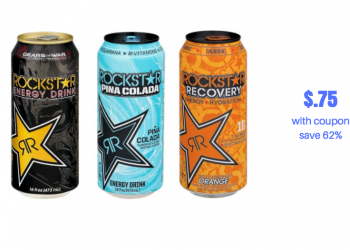 Rockstar Energy Drink Just $.75 Each With Sale and Coupon