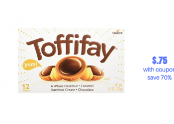 New Toffifay Chocolate, Hazelnut, Caramel Candy 12 pk. Just $.75 With Sale and Coupons, Save 70%
