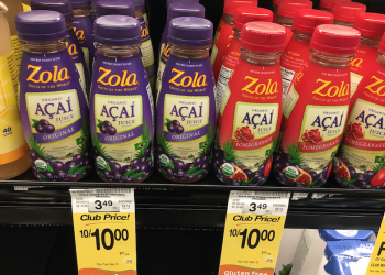 Zola Organic Acai Juice Just $1.00 Each at Safeway Save 71%