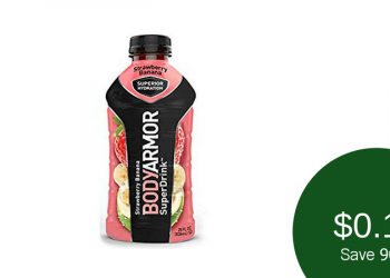 $0.19 BODYARMOR SuperDrink at Safeway (28 Ounce Bottle)