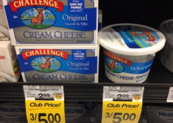 Challenge Cream Cheese For as Low as $0.42