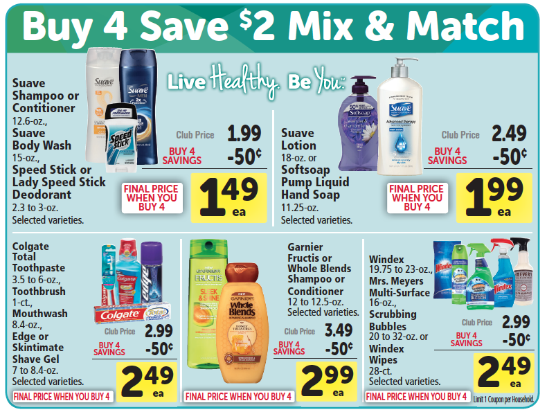 Safeway Buy 4, Save $2 Promo
