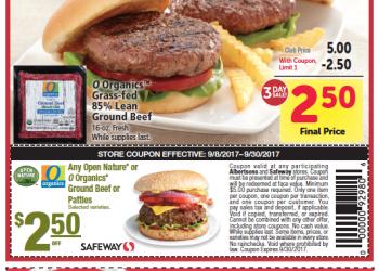 Safeway 3 Day Sale 9/8 – 9/10