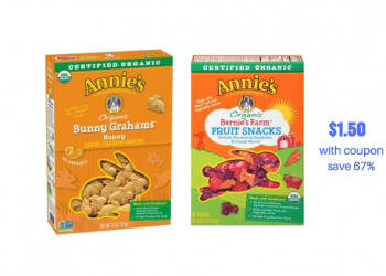 Annie's Fruit Snacks and Bunny Graham Crackers Just $1.50 With New Sale & Coupon
