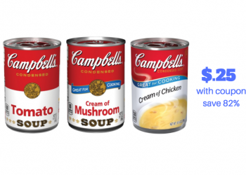 Campbell's Soup Coupons – Only $.25 for Condensed and $1.00 for Well YES!
