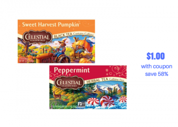 Celestial Seasonings Teas Just $1.00 With Sale and Coupon at Safeway