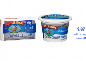 Challenge Cream Cheese Just $.67 With New Sale and Coupon
