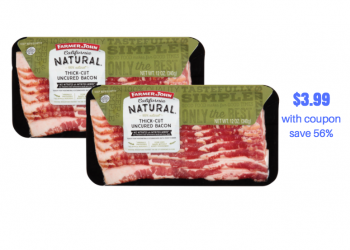 Farmer John 100% Natural Uncured Bacon Just $3.99 (Reg. $8.99)