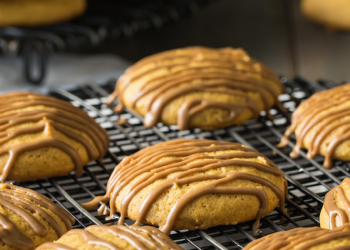 Maple Glazed Pumpkin Cookies