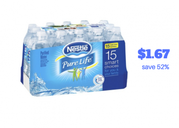 Nestle Pure Life Water and Arrowhead Water Bottles Just $1.67
