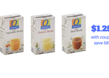 O Organics Chicken Broth 32 oz. Just $1.25 With New Coupon and Sale