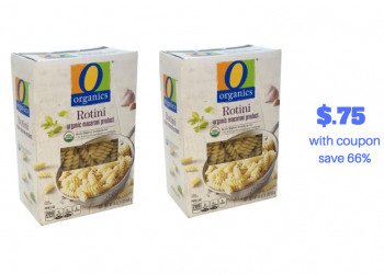 Get O Organics Pasta for Just $.75 With New O Organics Coupons and Sales at Safeway