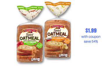Pepperidge Farm Swirl Oatmeal Bread Coupon and Sale – Pay just $1.99