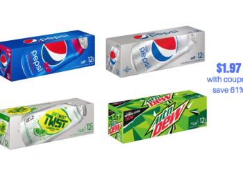 *SO HOT* 2 New Pepsi Coupons – Pay just $1.97 for Soda 12 Packs, $.16 per can!!