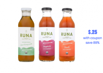 New Runa Tea Coupon and Sale, Pay just $.25 for Organic Tea