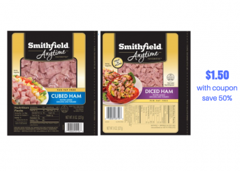 New Smithfield Coupon – Pay just $1.50 for Ham at Safeway