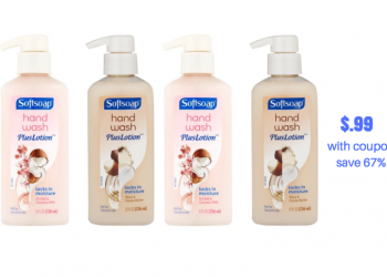 New Softsoap Plus Lotion Coupon – Get Hand Soap For Just $.99, Save 67%