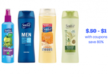 6 New Suave Coupons and Sales | Get $.50 Body Wash, $.50 Hair Care, $1.49 Lotion and More Hot Deals!