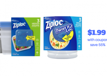 Ziploc Containers Just $1.99 With Sale and Coupon, Save 55%